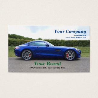 Su tarjeta de visita azul del coche de la marca