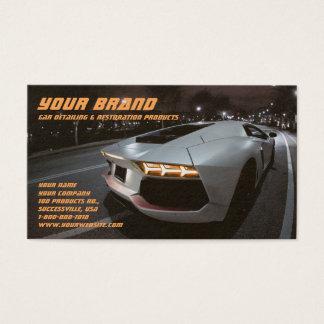 Su tarjeta de visita blanca del coche de la marca