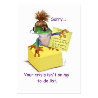 Su tarjeta del negocio o de visita de la crisis tarjetas de visita grandes