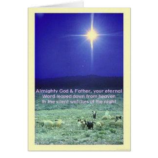 Su tarjeta eterna de Navidad de la palabra (Belén)