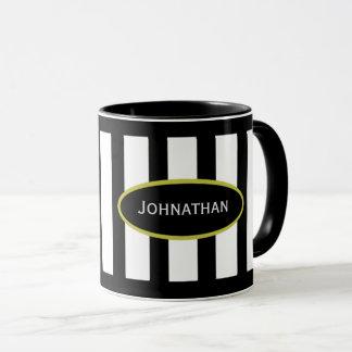Su taza conocida en el oro blanco del negro de la