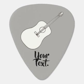 Su texto en púas de guitarra del dibujo de la