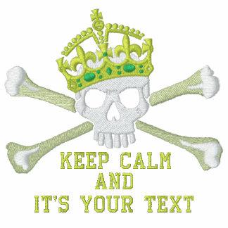 Su texto guarda el pecho tranquilo del cráneo de chaqueta de deporte bordada