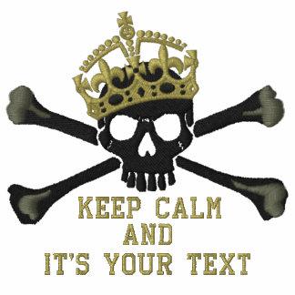 Su texto guarda el pecho tranquilo del cráneo de sudadera bordada con capucha