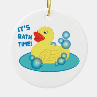 Su tiempo del baño adorno redondo de cerámica