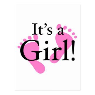Su un chica - bebé, recién nacido, fiesta de bienv postal