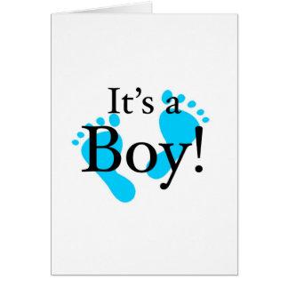 Su un muchacho - bebé, recién nacido, celebración tarjeton