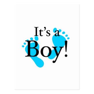 Su un muchacho - bebé, recién nacido, celebración postal