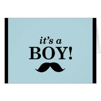 Su un muchacho - diseño del bigote tarjeta de felicitación