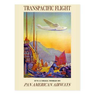 Su un pequeño mundo por las vías aéreas del postal