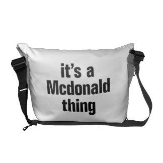 su una cosa de mcdonald bolsas de mensajería