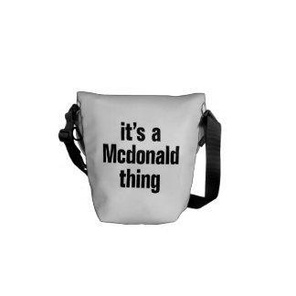 su una cosa de mcdonald bolsa de mensajería