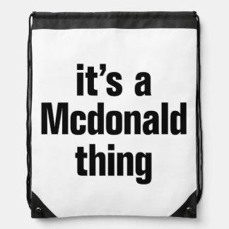 su una cosa de mcdonald mochilas