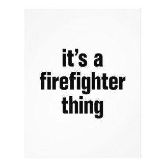 su una cosa del bombero folleto 21,6 x 28 cm