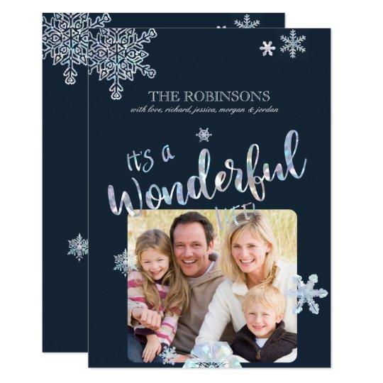 Su una tarjeta maravillosa de la foto del navidad