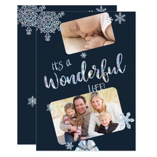 Su una tarjeta maravillosa de la foto del navidad invitación 12,7 x 17,8 cm