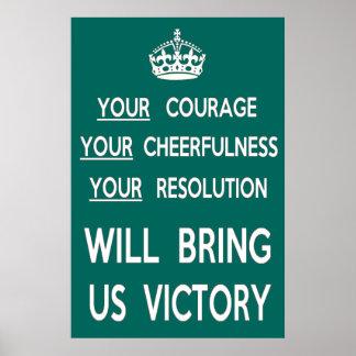 Su valor nos traerá la victoria posters