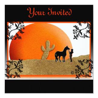 Su vaquera invitada de la puesta del sol comunicados personalizados