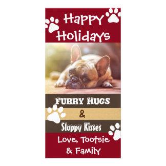 Su vertical de la tarjeta de Navidad de los perros