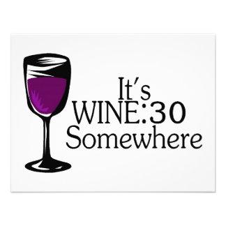 Su vino 30 en alguna parte invitaciones personalizada