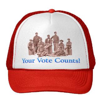 Su voto cuenta - guerra civil - productos múltiple gorro