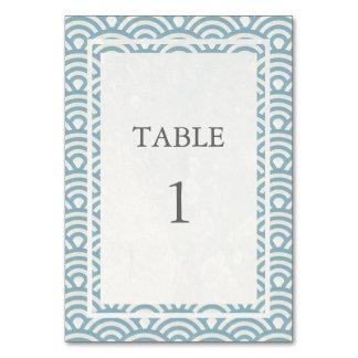 Suavemente azul + Número blanco de la tabla de