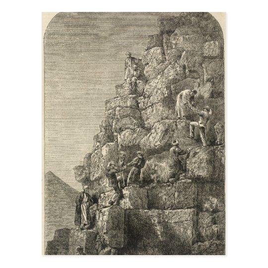 Subida de la gran pirámide postal