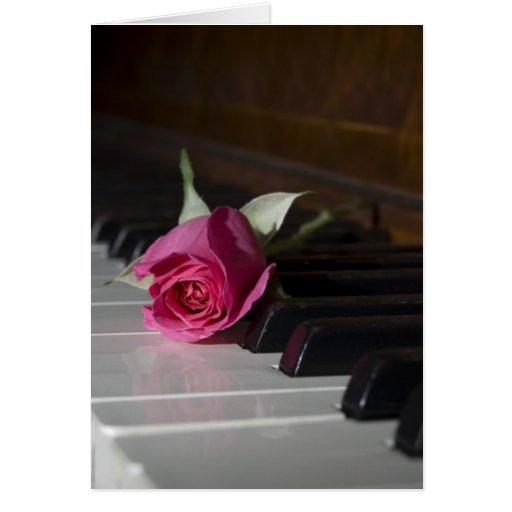 Subió en piano tarjeta