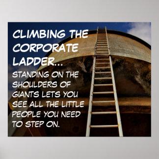 Subir la escalera corporativa da la perspectiva S Póster
