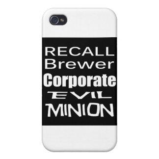 Subordinado corporativo malvado del cervecero de e iPhone 4 funda