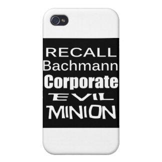 Subordinado malvado corporativo de Micaela Bachman iPhone 4 Funda