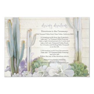 Succulent del cactus del desierto de las invitación 8,9 x 12,7 cm