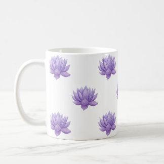 Succulent púrpura de la acuarela taza de café