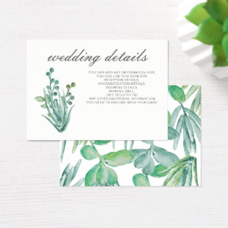 Succulents sensacionales que casan los detalles tarjeta de negocios