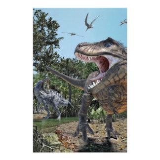 Suchomimus y confrontación de Rex del Papelería