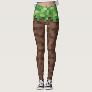 Suciedad de la hierba de Pixelated del videojuego Leggings