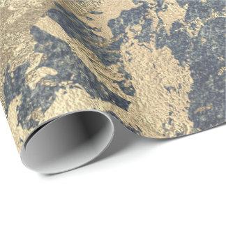 Sucio metálico brillante del gris azul de un papel de regalo