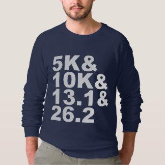 Sudadera 5K&10K&13.1&26.2 (blanco)