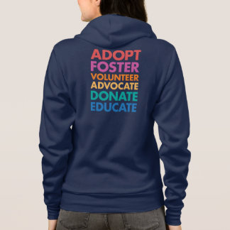 Sudadera Adopte al abogado voluntario adoptivo donan educan
