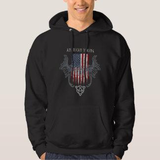 Sudadera Americano Viking. Bandera, casco apenado, céltico