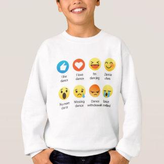 Sudadera Amo al Social del Emoticon de la danza (emoji) (la