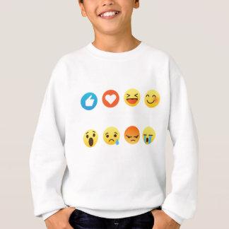 Sudadera Amo al Social del Emoticon del hockey (emoji) (la