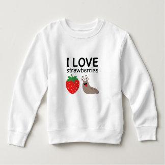 Sudadera Amo el ilustracion de las fresas