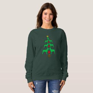 Sudadera Árbol de navidad de Boston Terrier