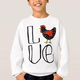 Sudadera Arte fresco del amor del pollo