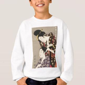 Sudadera Arte para mujer de Utamaro Yuyudo Ukiyo-e de la
