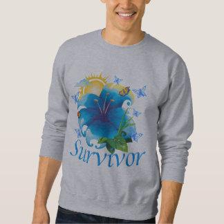Sudadera Azul de la flor del superviviente
