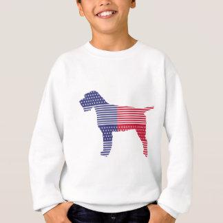 Sudadera Azul rojo del perro patriótico el señalar Griffon