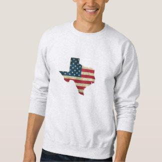 Sudadera Bandera americana del mapa de Tejas