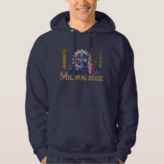 Sudadera Bandera de Milwaukee Wisconsin